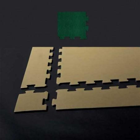 Esquina de remate para suelo gimnasio fitness 15x15x1,5 cm color Verde