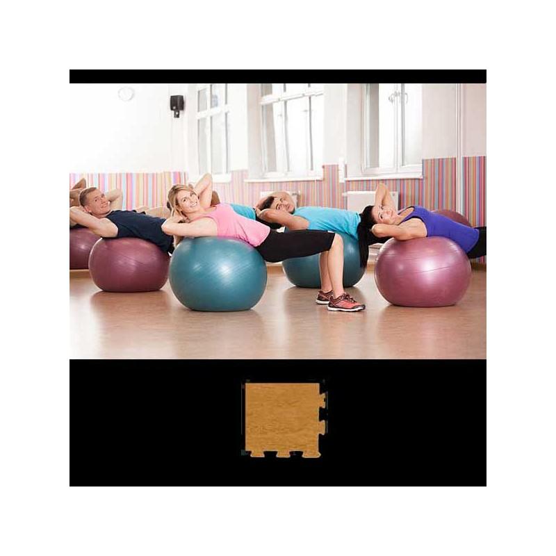 Esquina de remate para acabado de suelo gimnasio pilates yoga 12x12x2 cm