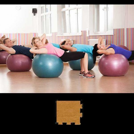 Esquina suelo gimnasio pilates yoga 12x12x2 cm