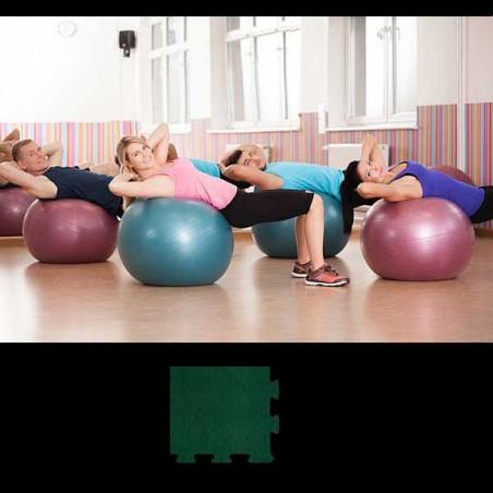 Esquina de remate para acabado de suelo gimnasio pilates yoga 12x12x2 cm Verde