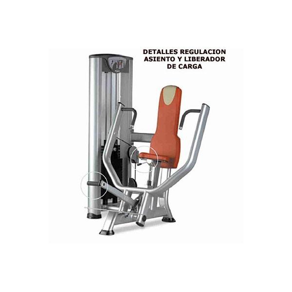 M quina musculaci n profesional press vertical pecho y for Maquinas de musculacion