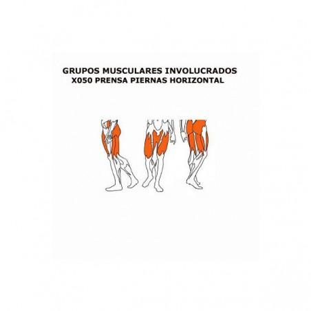 Máquina de musculación profesional Prensa piernas horizontal BH X050