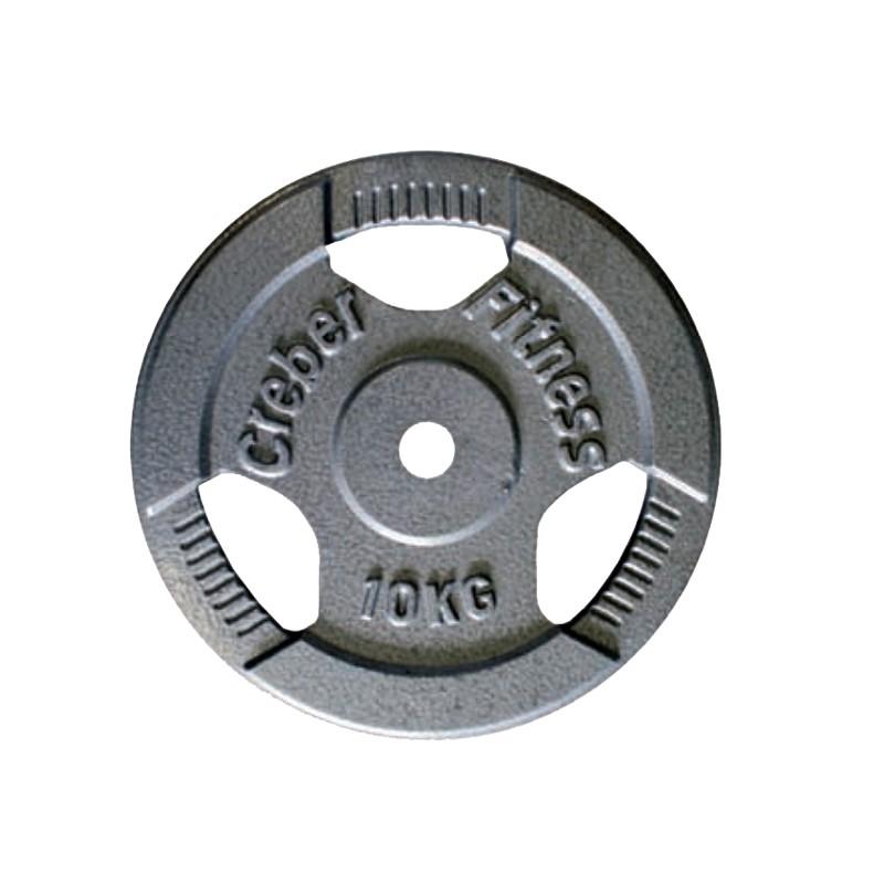 Disco hierro fundido con agarres levantamiento pesas diámetro 30 mm