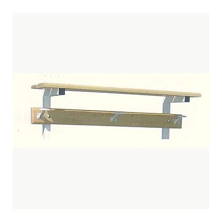 Perchero para vestuario estructura metálica estante superior 1 m