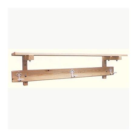 Perchero vestuario estructura y estante superior madera 2,5 m