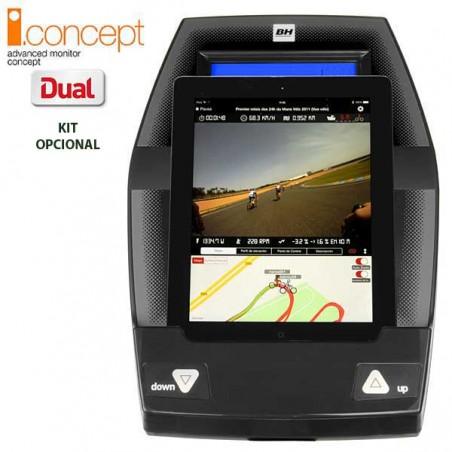 Monitor con tablet de la bicicleta elíptica BH i.Concept FDC19 Dual con Dual Kit opcional G860N para uso doméstico intensivo