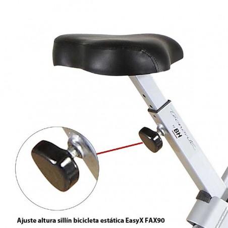 Ajuste del sillín de la bicicleta estática plegable EasyX YFAX90 Tecnovita by BH