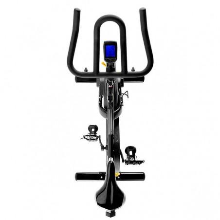 Vista en planta de la bicicleta spinning BH Duke Magnetic H925 para utilización en centros deportivos y gimnasios