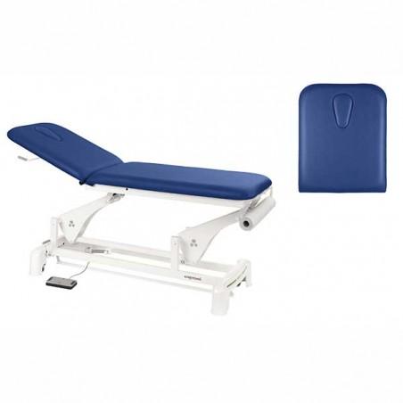 Detalle del respaldo de la camilla eléctrica 2 cuerpos para masajes y terapias Ecopostural C3553T13