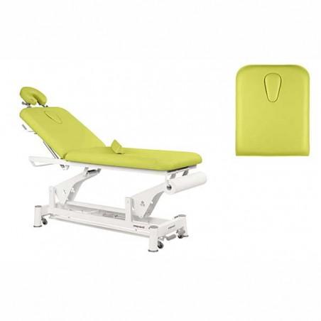 Respaldo y hueco facial de la camilla eléctrica 2 cuerpos para estética, masajes y terapias Ecopostural C5502T13