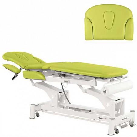 Respaldo de la camilla eléctrica 3 cuerpos Ecopostural C5531T01 para tratamientos, masajes y terapias