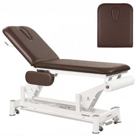 Respaldo de la camilla eléctrica 2 cuerpos Ecopostural C5534T13 para tratamientos, masajes y terapias