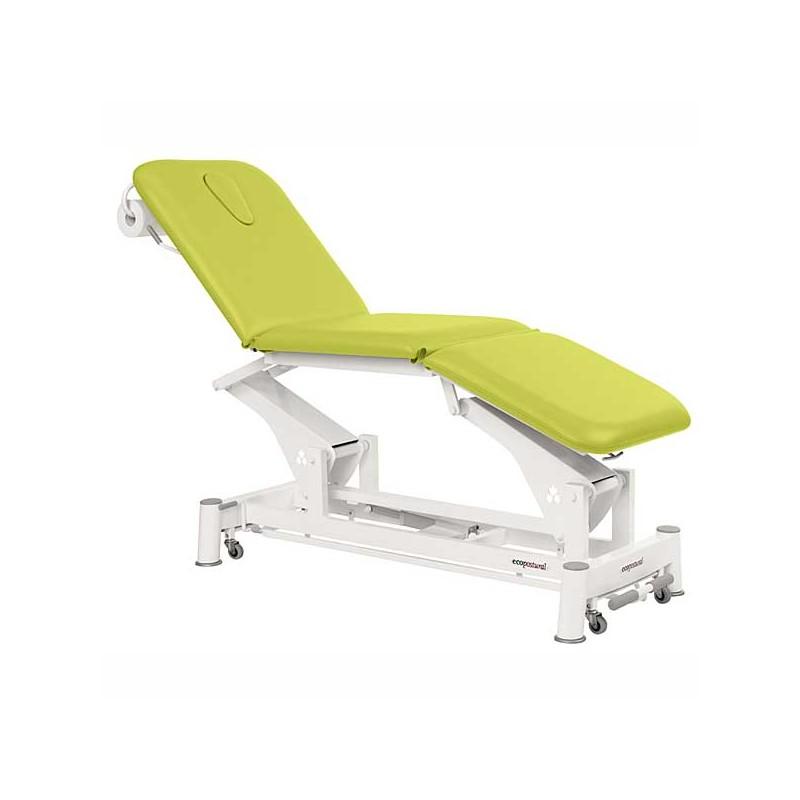 Camilla eléctrica 3 cuerpos Ecopostural C5557T13 para tratamientos, masajes y terapias