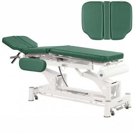 Respaldo de la camilla eléctrica 3 cuerpos Ecopostural C5590T05 para osteopatía, tratamientos, masajes y terapias