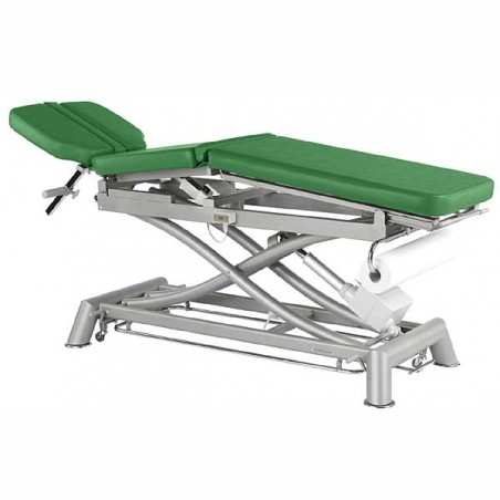 Camilla eléctrica 3 cuerpos y estructura tijera Ecopostural C7991T05 para osteopatía, tratamientos, masajes y terapias