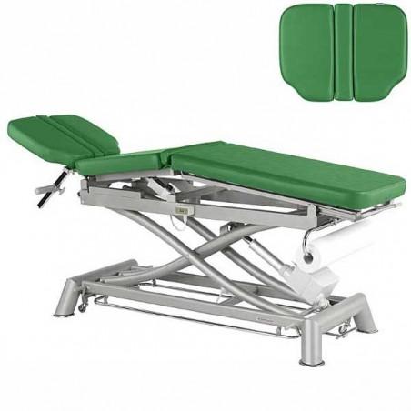 Respaldo de la Camilla eléctrica 3 cuerpos y estructura tijera Ecopostural C7991T05 para osteopatía, tratamientos y masajes