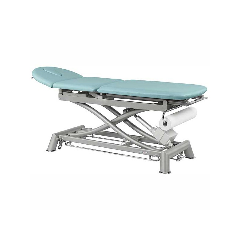 Camilla eléctrica técnica de 3 cuerpos Ecopostural C7910T10 para tratamientos, masajes y terapias