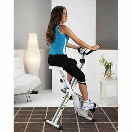 Utilización de la bicicleta estática plegable Tecnovita Open & Go YF90