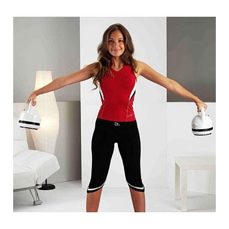 Ejercicio de brazos con pesas vibratorias Tecnovita by BH Axia Vibro Kettlebell YV01