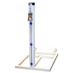 Juego postes padel desmontables aluminio cuadrados 80x80 mm con botes