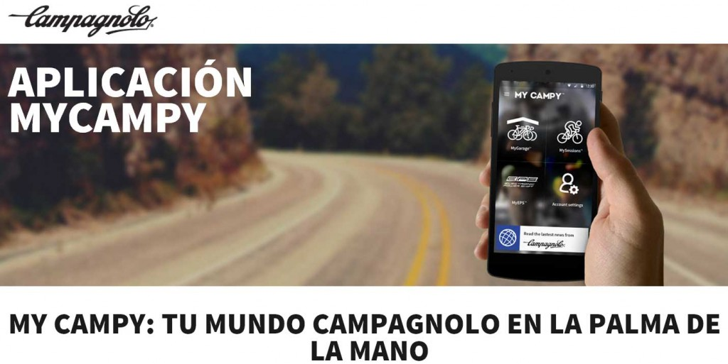 La conocida firma italiana Campagnolo ha desarrollado la nueva App MyCampy para el control de los componentes de tu bicicleta