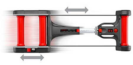 El rodillo de entrenamiento Elite Quick-motion puede usarse con casi todo tipo de bicicletas de carretera y de montaña MTB