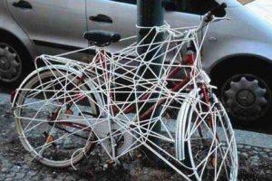 Evitar el robo de piezas de la bicicleta