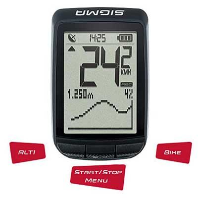 El cuentakilómetros Sigma Pure GPS se caracteriza por la sencillez de utilización