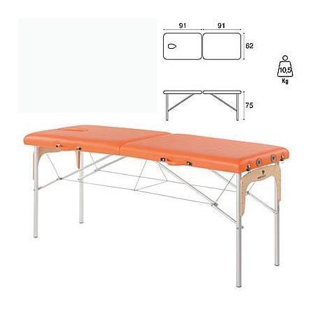 Camilla plegable mixta madera aluminio Ecopostural C3312