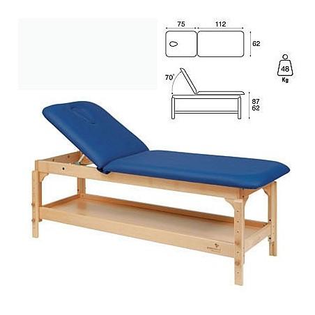 Camilla fija madera 2 cuerpos altura regulable con bandeja C3220