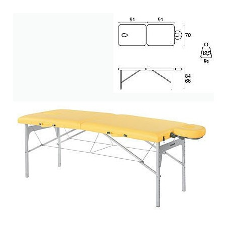 Camilla plegable aluminio masaje y terapia Ecopostural C3408M61