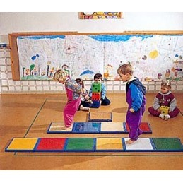 Piezas base pasillo sensaciones plantares Psicomotricidad infantil