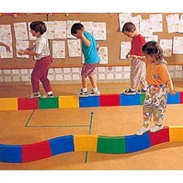 10 módulos acoplables 30 cm pasillo recto de Psicomotricidad infantil