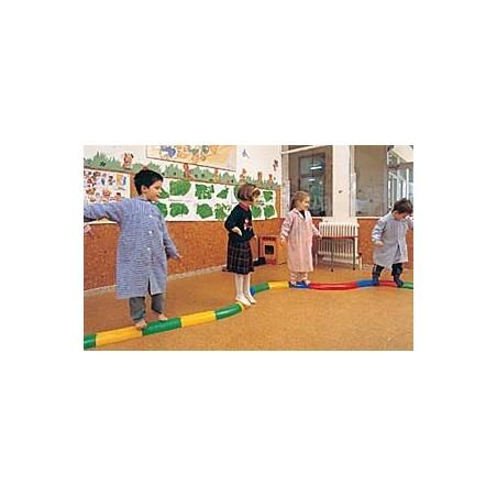 10 módulos acoplables 30 cm pasillo semicircular recto