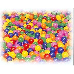 600 pelotas llenado piscina sensorial 6 colores surtidos 75 mm