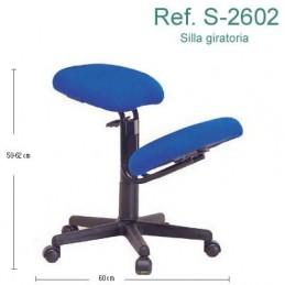 Silla ergonómica con ruedas, sin respaldo Ecopostural S2602