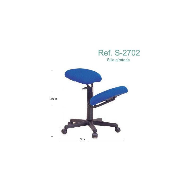 Silla ergonómica sin respaldo y con ruedas Ecopostural S2702
