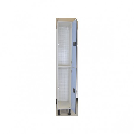 Taquilla vestuario melamina con 2 puertas 90x30x50 cm