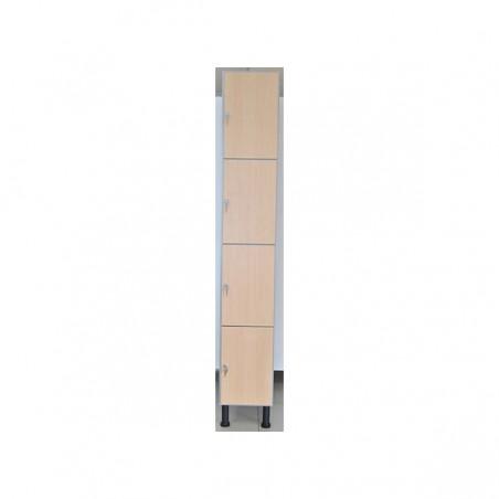 Taquilla vestuario melamina con 4 puertas 45x30x50 cm