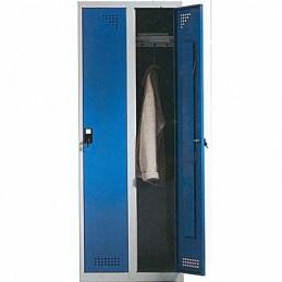 Taquilla metálica para vestuario 1 altura 2 huecos 30x50x180 cm