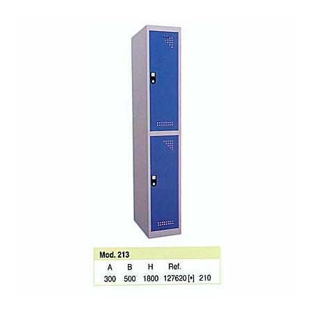 Taquilla metálica para vestuario 2 alturas 2 huecos 30x50x90 cm10