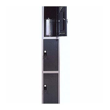 Taquilla metálica para vestuario 3 alturas 3 huecos 30x50x60 cm