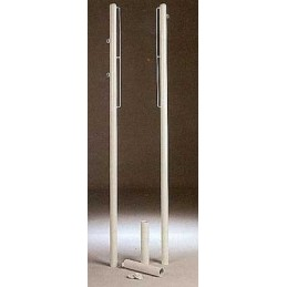 Juego postes Badminton fijos tipo C. Anclados al suelo