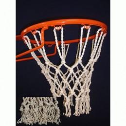 Juego red baloncesto modelo Competición, algodón macramé tripe flecos, 12 ganchos