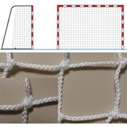 Red portería balonmano fútbol sala polietileno torcido, hilo 3 mm