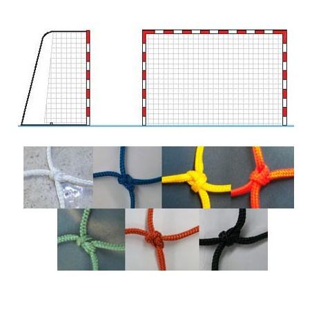 Dos redes portería balonmano fútbol sala nylon 3 mm. Alto rendimiento