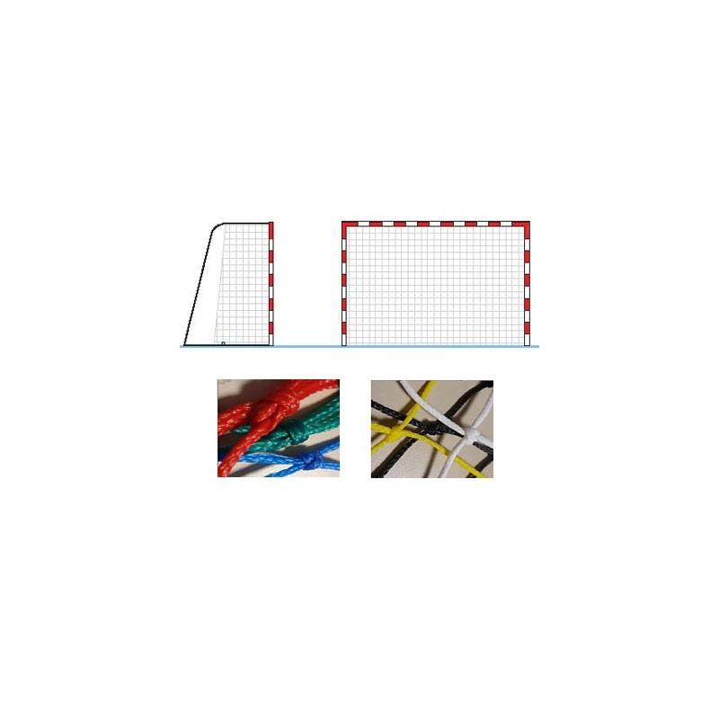 Red portería balonmano fútbol sala polietileno hilo 3 mm amateur