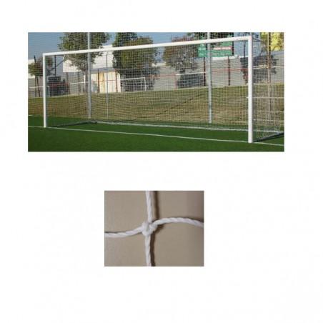 Redes porterías fútbol 11 cajón polietileno de 3,5mm malla 140mm