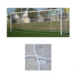 Redes porterías fútbol 11 cajón nylon de 4mm malla 120mm