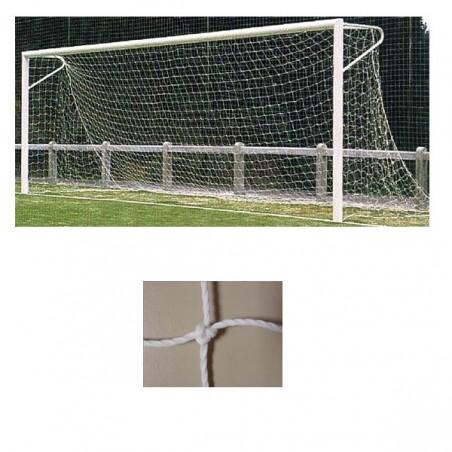 Redes portería fútbol 11 arquillos polietileno de 3,5mm malla 140mm